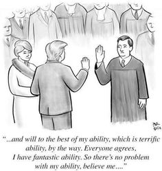 A chronological collection of New Yorker cartoons, covers, spot illustrations, and other artwork featuring Donald Trump and Hillary Clinton. New Yorker Cartoons, Funny Jokes, Hilarious, It's Funny, Funny Shit, Political Cartoons, Political Satire, Trump Cartoons, Funny Politics