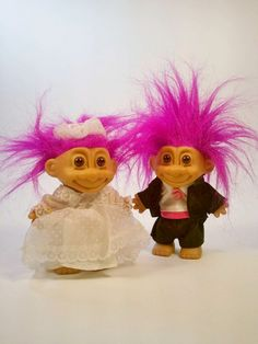 Vintage Troll Bride and Groom By Russ by LazyMermaidVintage, $30.00