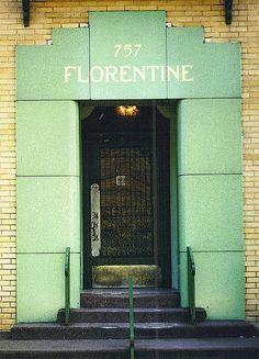 Detail: Entry, 757 Covington Drive, The Florentine Apartments--Detroit MI by pinehurst19475