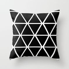 Buy BLACK & WHITE TRIANGLES 2 by natalie sales as a high quality Throw Pillow. Worldwide shipping available at Society6.com. Just one of millions of products available.