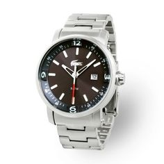 Lacoste Male Mansail Watch  2010393 Silver Analog Sale price. $162.95