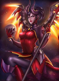 Devil Mercy by Nindei.deviantart.com on @DeviantArt - More at https://pinterest.com/supergirlsart #overwatch #fanart