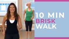 This is a FAST and BRISK ten minute brisk walk! It's SO HEALTHY to walk at a fat-burning pace! Workout from Mix and Match Walk Blasters. Home Workout Videos, At Home Workouts, 30 Day Fitness, Fitness Tips, Yoga Fitness, Pilates Studio, Pilates Reformer, Walking With Weights, Leslie Sansone