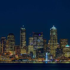 seattleempress. Seattle at Blue Hour  With Portland pal @jakeegbert. Click like or share.