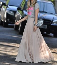 Chanel purse maxi skirt