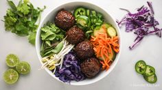 Vegetarian Banh Mi Bowls  - delicious and ready in less than 30 minutes