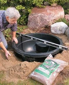 how to build small pond in one day.. I have 3 now lol time consuming but really easy and beautiful