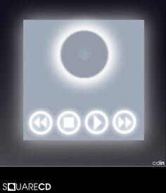 Corian Square CD player