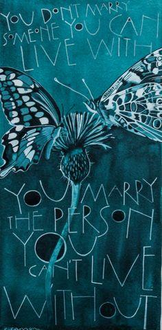 Marry By Sam Cannon Art Watercolour, pen and gouache on paper www.samcannonart.co.uk