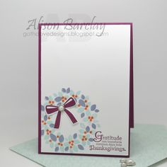 Gothdove Designs - Alison Barclay - Stampin' Up! Australia - Stampin' Up! Wondrous Wreath Thanksgiving card