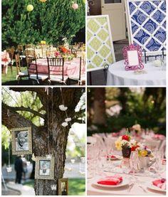 Wedding Reception Decorating ~ I love the memorial tree idea...
