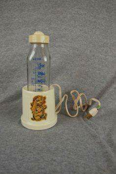 Baby bottle warmer in the 50's and 60's