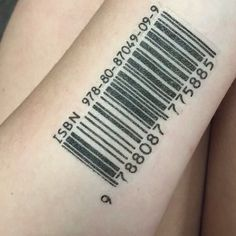 20 Graphic Barcode Tattoo Meanings - Placement Ideas Check more at http://tattoo-journal.com/20-graphic-barcode-tattoos/