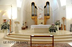 wedding in modern church