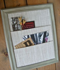 Soothing French Grey Mail Organizer. $64.00, via Etsy. want to make one!