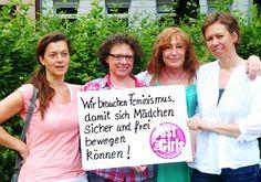 """""""Wir brauchen #Feminismus, damit sich Mädchen sicher und frei bewegen können!"""" (justforgirls-koblenz.de Onlineberatung für Mädchen)"""