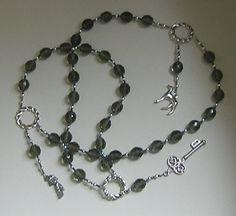 Hekate Hecate Prayer Beads: Greek Goddess by HearthfireHandworks