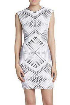 Monochrome Kaleidoscope Print Dress