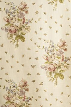 Jean Monro supply printed fabrics, hand block fabrics, wallpapers and Ramm Son & Crocker Fabrics. Shabby Vintage, Vintage Roses, Hand Printed Fabric, Printing On Fabric, Mini Roses, Embroidery Suits, Colorful Curtains, Antique Roses, Room Wallpaper
