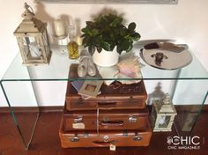 Vecchie valigie per nuove idee in casa