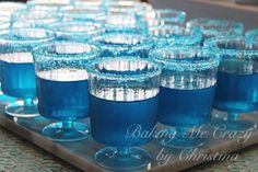 Cool drinks at a Frozen birthday party!  See more party planning ideas at CatchMyParty.com!