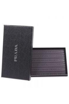 Leather credit card holder by Prada