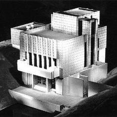 Model. Millard House/ La Miniatura. Pasadena, Ca. 1923, Frank Lloyd Wright. Textile block period.