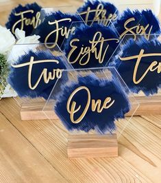 accessories for table Wedding Painted Back Acrylic Table Number, Hexagon Acrylic Table Number, Wedding table number, Modern Table Number, Acrylic Table Number Wedding Signs, Diy Wedding, Fall Wedding, Wedding Photos, Dream Wedding, Nautical Wedding, Wedding Favors, Nautical Table, Wedding Gold