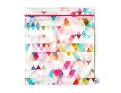 Reusable Bags, Triangle, Lunch, Curtains, Etsy, Quilts, Shower, Blanket, Green