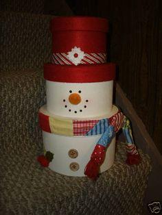 Hat Box Snowman Craft