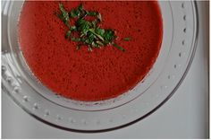 Heirloom Tomato & Beet Gazpacho by The Hungry Texans