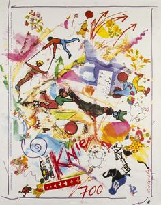 Jean Tinguely 1991 Cirque Knie Art Posters, Vintage Posters, Jean Tinguely, Artists For Kids, Exhibition Poster, Love Art, 1990s, Theatre, Art Drawings