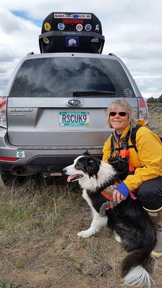 One of our most beloved clients is still doing wonderful things for our community here in Bend.  Carol Sanner and her 12 year old dog Meg just became re-certified for search and rescue missions involving deceased individuals.  What beauties!