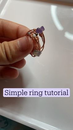 Diy Wire Jewelry Rings, Diy Jewelry Unique, Handmade Wire Jewelry, Diy Crafts Jewelry, Diy Rings, Cute Jewelry, Beaded Jewelry, Jewelry Making, Jewlery