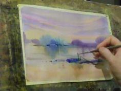wet watercolor - YouTube