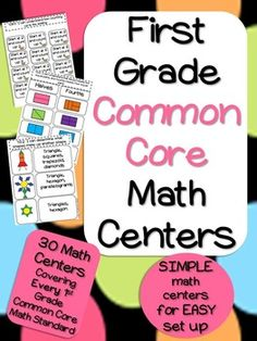 YOU NEED THESE MATH CENTERS IF YOU TEACH COMMON CORE! Available for grades 1-4! These centers cover every 1st grade common core math standard. Check out the 26 page preview!