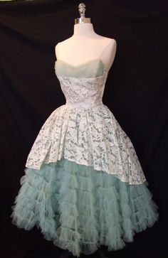 So vintage, so fabulous. But you'd need quite a slip to be comfortable under all of that crinoline.