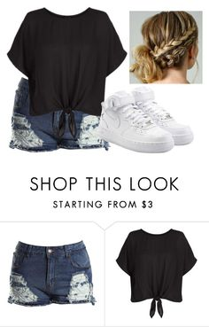 """Untitled #280"" by dannii1109 ❤ liked on Polyvore featuring New Look and NIKE"