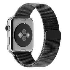 Apple Watch Strap, mit Einzigartige Magnet-Verschluss, nur 14,95 Euro Alle Modelle Keine Schnalle Benötigt (Schwarz). Über das Bild gehts zur Bestellseite auf amazon.de