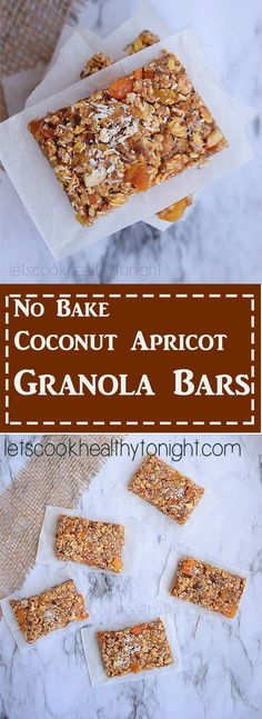 Easy no bake Coconut Apricot Granola Bars. granola bars that are refined-sugar-free delicious.Perfect after school Snack for Kids or Healthy Snack For You!