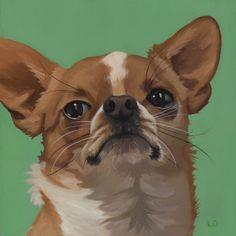 Chihuahua Pet Portrait | LeahDaviesArt.com