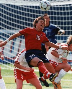 Michelle Akers.... This women was a fighter and an amazing player