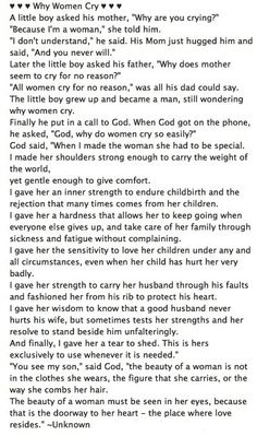 I love this sooo much❤ Why Women Cry #quote