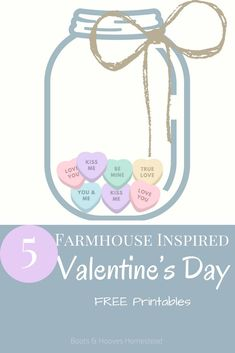 Decorate your home for Valentine's Day with these 5 FREE Farmhouse Inspired printables!