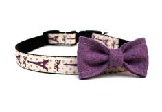 Bow Dog Collar 5/8 French Dog Collar by Wagologie on Etsy, $20.00