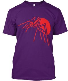 Spider Purple T-Shirt Front