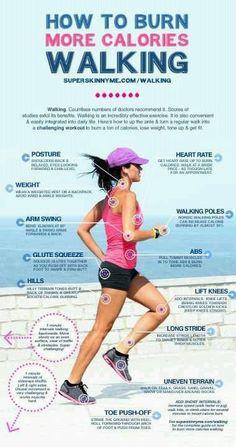 How to burn more calories walking!