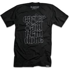 Ugmonk Easier Said Than Done Tshirt Black