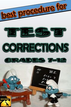 Most effective method I've tried for offering test fix-ups in math class - Students have to write out full explanations. Download the procedure sheet to hand out from the blog at www.mathgiraffe.com