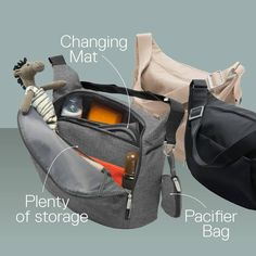 Great For Going Places With Baby Stokke Changing Bag Conveniently Safely